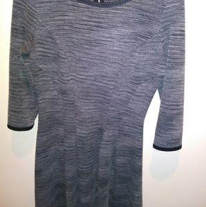 Max Studio Space-Dye Long Sleeve Dress
